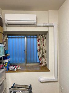 新宿区 エアコン交換 室内カバー