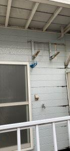 練馬区エアコン工事 室外機壁面設置