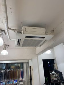 新宿区業務用エアコン入れ替、新宿区天カセット工事